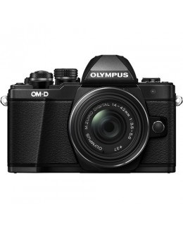 Olympus OM-D E-M10 Mark II Mirrorless Micro Four Thirds Digital Camera with 14-42mm II R Lens (Black) (Olympus Malaysia )