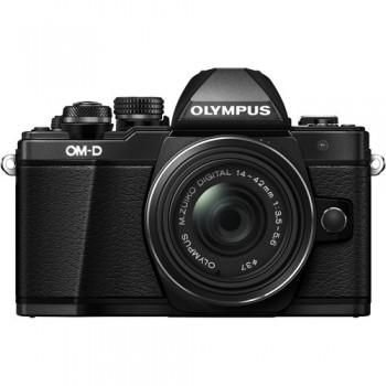 Olympus OM-D E-M10 Mark II Mirrorless Micro Four Thirds Digital Camera with 14-42mm II R Lens (Black) (Olympus Malaysia )