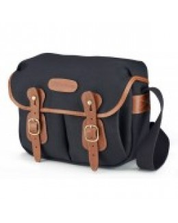 Billingham Hadley Shoulder Bag Small (Black with Tan Leather Trim)