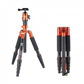 FotoPro X-4CN 5-Section Carbon Fiber Tripod with Built-In Monopod, FPH-42Q Ball Head
