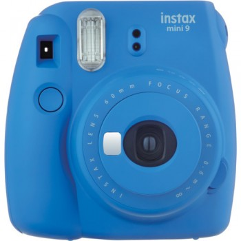 Fujifilm instax mini 9 Instant Film Camera (Cobalt Blue) + Fujifilm Instax Mini Single Pack Film (10pcs) (Fujifilm Malaysia )