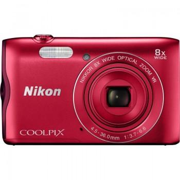 Nikon COOLPIX A300 Digital Camera (Red)  ( Nikon Malaysia )