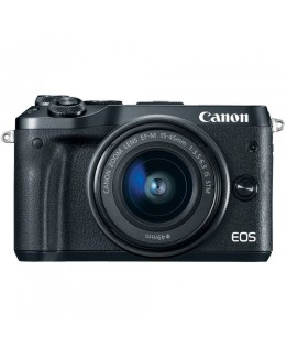 Canon EOS M6 Mirrorless Digital Camera with 15-45mm Lens (Black) (Canon Malaysia )