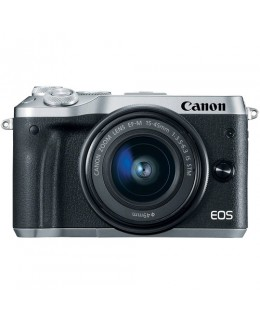 Canon EOS M6 Mirrorless Digital Camera with 15-45mm Lens (Silver) (Canon Malaysia )