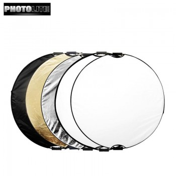 Photolite 110cm 5 in 1 Light Reflector with Bag - Translucent, Silver, Gold, White, Black