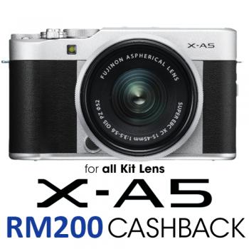 Fujifilm X-A5 Mirrorless Digital Camera with 15-45mm Lens (BROWN)
