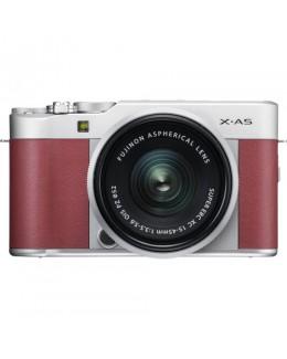 Fujifilm X-A5 Mirrorless Digital Camera with 15-45mm Lens *FOC 32GB SD CARD & LEATHER HALF CASE & NP-W126 BATTERY Pink (Fujifilm Malaysia)