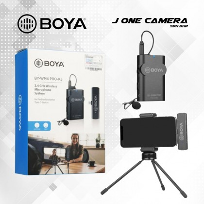 BOYA BY-WM4 PRO K5 2.4 GHz Wireless Microphone System for Android Type-C Devices