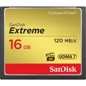 Sandisk Extreme CompactFlash 16GB Memory Card (Up to Read 120 MB/s / Write 60 MB/s)