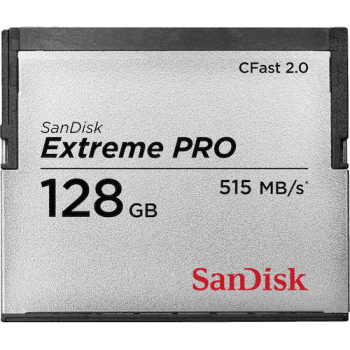 Sandisk Extreme Pro CFast 2.0 128GB Memory Card (Up to Read 515 MB/s / Write 440 MB/s)