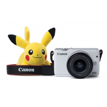 Canon EOS M10 with EF-M 15-45mm f/3.5-5.6 IS STM Lens (White) (Pikachu Set) (Canon Malaysia)
