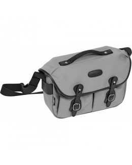 Billingham Hadley Pro Shoulder Bag (Gray Canvas & Black Leather)