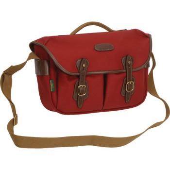 Billingham Hadley Pro Shoulder Bag (Burgundy Canvas & Chocolate Leather)