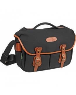 Billingham Hadley Pro Shoulder Bag (Black Canvas & Tan Leather)