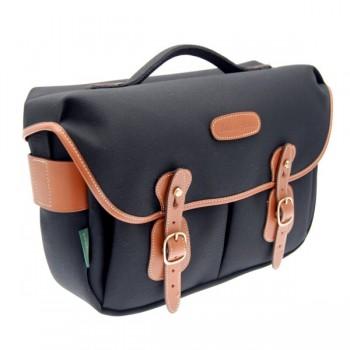 Billingham Hadley Pro Shoulder Bag (Black FibreNyte & Tan Leather)
