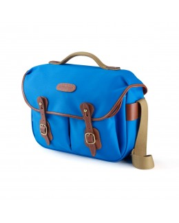 Billingham Hadley Pro Shoulder Bag (Imperial Blue Canvas & Tan Leather)