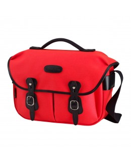 Billingham Hadley Pro Shoulder Bag (Neon Red Canvas & Black Leather)