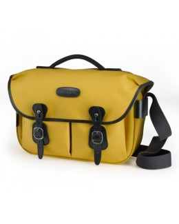 Billingham Hadley Pro Shoulder Bag (Yellow Canvas & Black Leather)