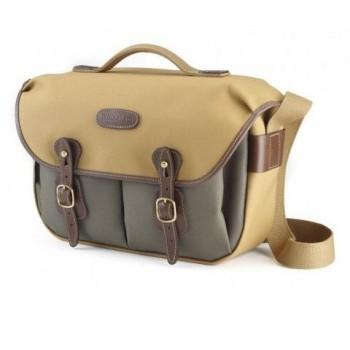 Billingham Hadley Pro Shoulder Bag (Sage FibreNyte 2-Tone & Black Leather)