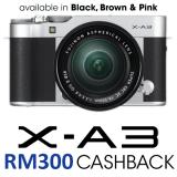 Fujifilm X-A3 Mirrorless Digital Camera with 16-50mm Lens Silver (Fujifilm Malaysia)
