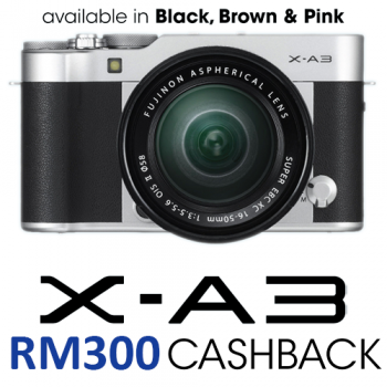 Fujifilm X-A3 Mirrorless Digital Camera with 16-50mm Lens Pink (Fujifilm Malaysia)