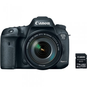Canon EOS 7D Mark II DSLR Camera with 18-135mm f/3.5-5.6 IS USM Lens with W-E1 Wi-Fi Adapter (Canon Malaysia)
