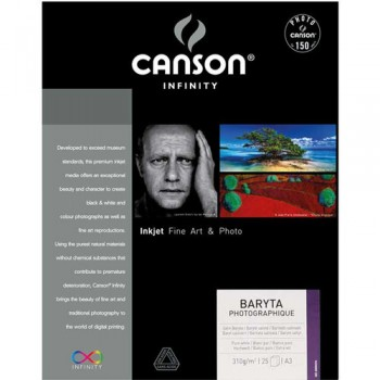 Canson Infinity Baryta Photographique Paper 310gsm (A3+, 25 Sheets)