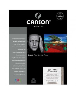 Canson Infinity Edition Etching Rag Paper 310gsm (A3+, 25 Sheets)