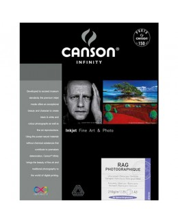 """Canson Infinity Rag Photographique Paper 210 gsm (A3+ 13 x 19"""", 25 Sheets)"""