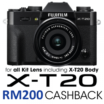 Fujifilm X-T20 + 16-50mm & 50-230mm Kit Lens (Black) (Fujifilm Malaysia)